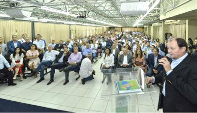 Mais de 42 Prefeitos assistem a saída de Miglioli da SEINFRA para disputar o Senado