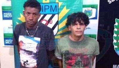 Polícia Militar de Maracaju dá resposta imediata a ação de ladrões e prende dupla após roubo