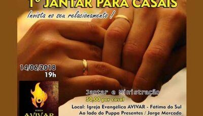 Igreja Avivar realizará I Jantar para Casais em Fátima do Sul