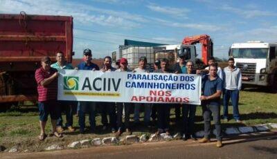 Comerciantes de Ivinhema aderem a greve e fecham a comercio a partir das 15 horas