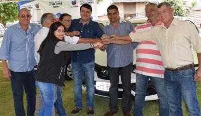Marquinhos do Dedé entrega 3 veículos para a saúde fortalecendo atendimento em Vicentina