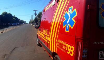 Motociclista fica ferido após colidir de frente com carreta na MS-147 em Culturama