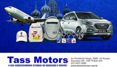 Dourados: Faça um test-drive na Tass Motors e concorra a um IX35, viagem para Copa e outros prêmios
