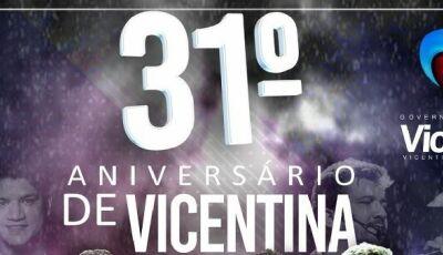 Marquinhos do Dedé divulga shows do 31º aniversário do município de Vicentina
