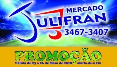 Confira as promoções desta quarta, quinta, sexta e sábado do Mercado Julifran em Fátima do Sul