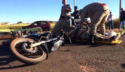 Homem e mulher ficam feridos em acidente na região de Ivinhema