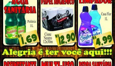 Confira as ofertas da segunda da limpeza do Mercado Julifran em Fátima do Sul