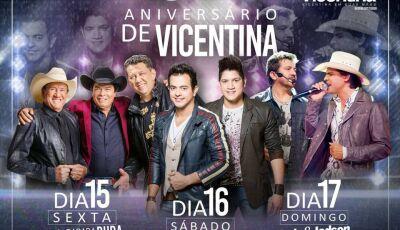 Hoje tem Henrique e Diego no palco principal em Vicentina