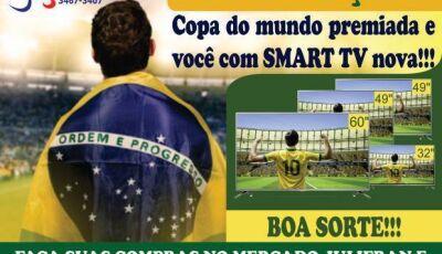 Compre no Mercado Julifran e concorra a SmarTV de 39', 49' e 60' polegadas em Fátima do Sul