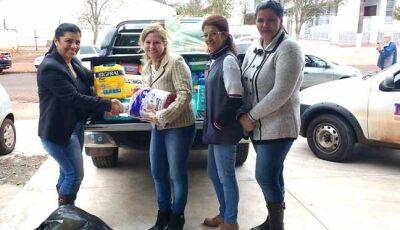 Comunidade de Culturama faz doação de fraldas para Hospital do Câncer de Dourados