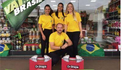 Dr. Shape Dourados terá café da manhã, bolão grátis para quem for assistir o jogo do Brasil na loja