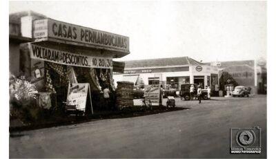 FOTO DO DIA: Primeiro prédio das Casas Pernambucanas na década de 1970 em Fátima do Sul
