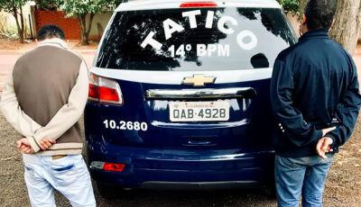 Equipe da Força Tática captura foragido da justiça e detém homem com maconha em Deodápolis