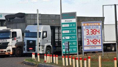 Diesel cai R$ 0,62 em distribuidoras e apenas R$ 0,32 nos postos de MS