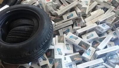 PM estoura central de distribuição de cigarros contrabandeados no Jóquei Clube