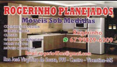 Rogerinho Planejados chegou em Vicentina para fabricação de Móveis Sob Medida