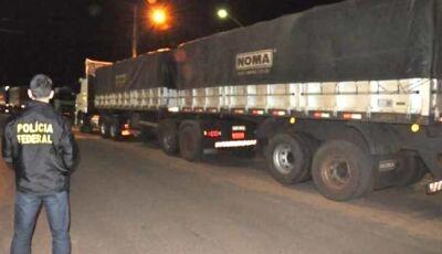 Polícia Federal apreende 11 carretas com cigarros contrabandeados do Paraguai