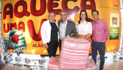 Ação do Governo MS resulta em cobertores que serão doados a famílias carentes de Anaurilandia