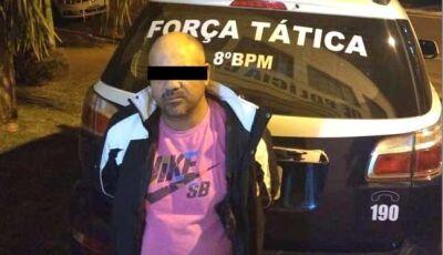 Acusado de tráfico é preso após desacatar policiais e cuspir em rosto de soldado da Força Tática
