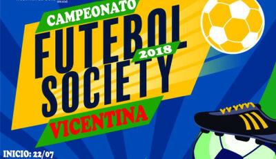 """Prefeitura realiza """"Campeonato de Futebol Society em Vicentina"""""""