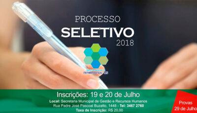 Prefeitura abre inscrições para processo seletivo em Fátima do Sul
