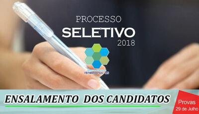 Prefeitura de Fátima do Sul divulga ensalamento de Processo Seletivo. Prova será neste domingo (29)