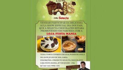 Deliciosa aula especial Dia dos Pais será dia 20 em Fátima do Sul