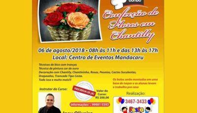 Festa Mania traz inédito Curso Confecção de Flores em Chantilly para Fátima do Sul