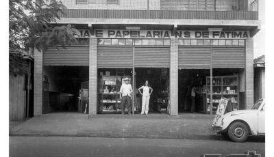 Foto do dia: Livraria e Papelaria Nossa Senhora de Fátima, década de 1970 em Fátima do Sul