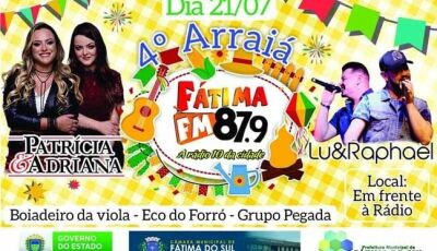 Fatima FM realiza neste sábado o 4º Arraiá em Fátima do Sul