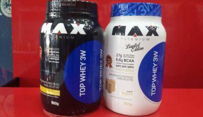 Na compra de um suplemento Maxtitanium Top Whey 3W 900g ganha um BCAA na Dr. Shape Dourados