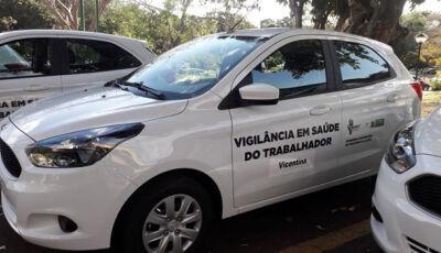 """Secretaria de saúde de Vicentina recebe carro como prêmio em melhor """"Projeto em Saúde do Trabalhador"""