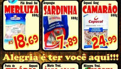 Hoje é dia da Sexta do Peixe no Mercado Julifran, confira as ofertas em Fátima do Sul