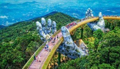 Fotos impressionantes: Vietnã inaugura ponte sustentada por mãos gigantes