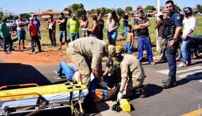 Motociclista sofre ferimentos ao ser atingido por veículo conduzido por adolescente