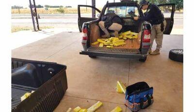 PRF intercepta carregamento de droga em pick-up com placa de MG