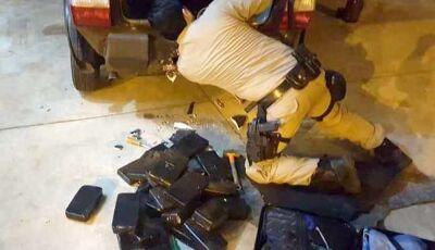 Em ação da PRF, duas mulheres são flagradas com quase 30 quilos de cocaína em Nova Casa Verde