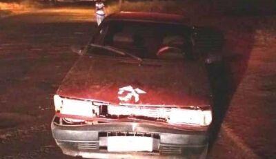 Nova Andradina: Condutor supostamente embriagado bate em moto na saída para Ivinhema