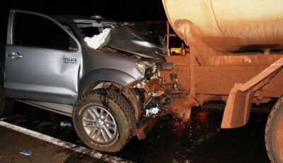 Colisão entre camionete e caminhão da usina mata uma pessoa na MS-276