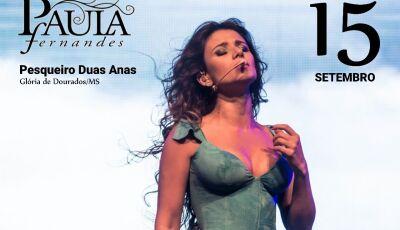 Paula Fernandes em contagem regressiva para o pesqueiro Duas Anas em Glória de Dourados