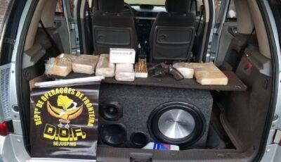 DOF prende homem com arma de fogo, droga e munições em Deodápolis