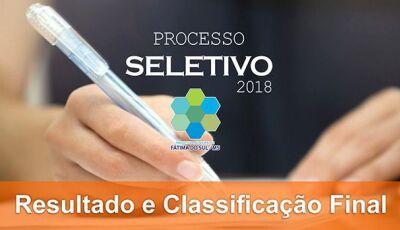 Prefeitura de Fátima do Sul divulga resultado das provas e classificação final do Processo Seletivo