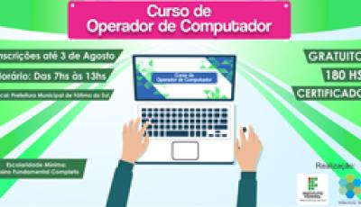 IFMS e Prefeitura realizam Curso de Operador de Computador em Fátima do Sul