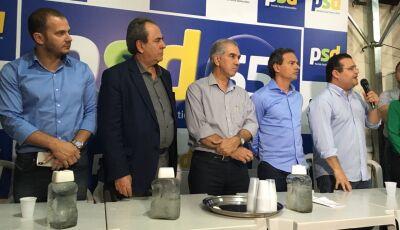 PSD de Marquinhos Trad confirma apoio ao PSDB em convenção com presença de Reinaldo Azambuja