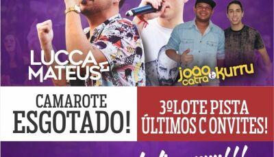 Com mais de 700 convites vendidos antecipados, show Lucca e Mateus será hoje em Glória de Dourados