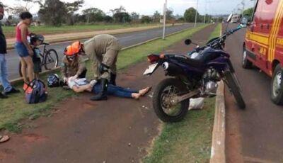 Mulher fica ferida ao sofrer acidente em Ivinhema