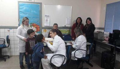 JATEÍ: Equipe da saúde bucal faz acompanhamento com crianças do Centro de Educação Infantil