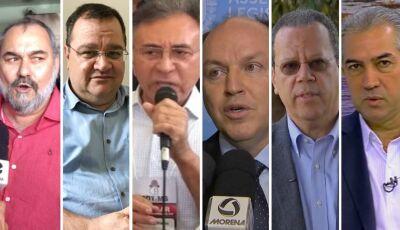 Reuniões e visitas estão previstas na agenda dos 6 candidatos ao governo do MS