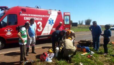 Idoso vítima de acidente na MS-376 em Culturama morre no Hospital