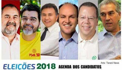 Confira agenda de campanha dos candidatos ao governo nesta terça-feira